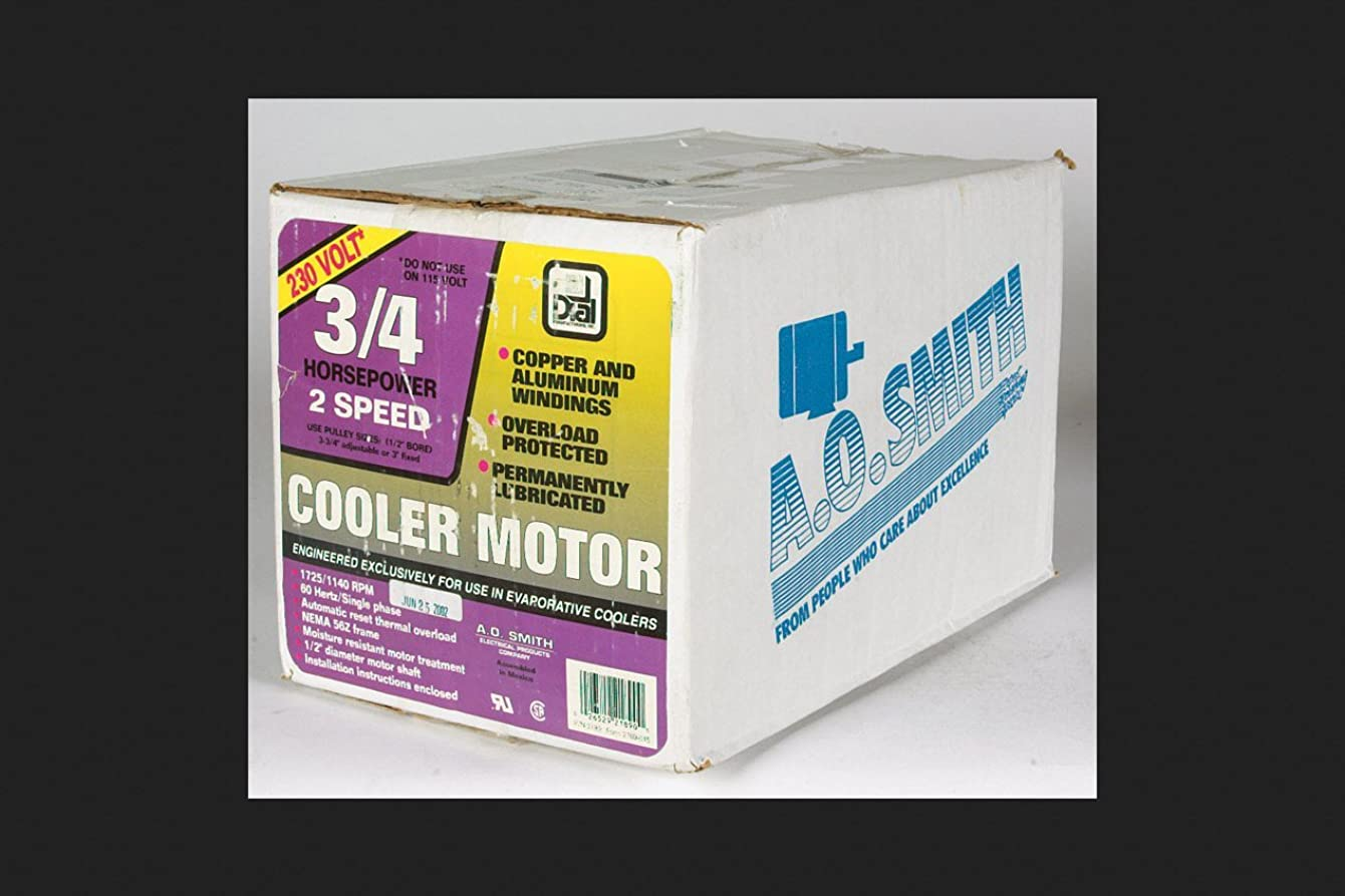 Dial Cooler Motor 3/4 Hp 230 V 2 Speed Permanently Lubricated
