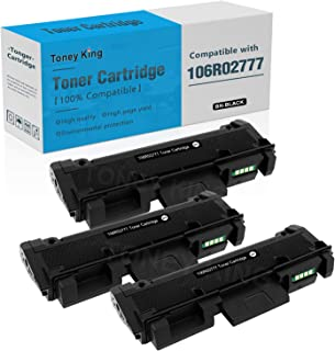106R02777 Toner Cartridge Compatible for Xerox 3215 106R02777 Toner Replacement for Xerox Phaser 3260DNI 3260DI 3052 3260 WorkCentre 3215NI 3225DNI 3215 3225 Printer by Toney King (3PK x Black)