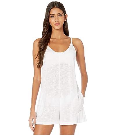 BECCA by Rebecca Virtue Breezy Basics Short Romper Cover-Up (White) Women