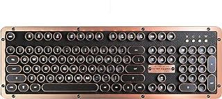 Azio Retro Classic Artisan Teclado Bluetooth Mecánico, Apariencia Vintage, Diseño Español