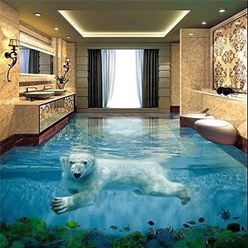 Eisbar Unterwasserwelt 3d Stereo Badezimmer Boden Grosse Benutzerdefinierte Wasserdichte Tapete 350 245 Cm Amazon De Baumarkt