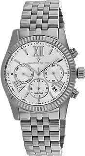 Christian Van Sant Women's Blisse Quartz Stainless Steel Strap, Silver, 20 Casual Watch (Model: CV0620)
