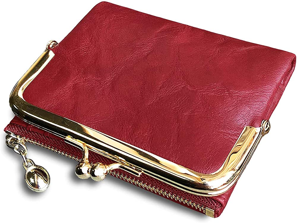 Pofee portafoglio da donna in pelle porta carte di credito con protezione rfid QJ-00