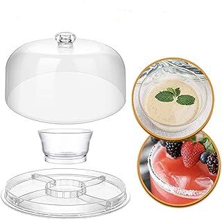 Supporto per torta multifunzionale con coperchio, supporto per torta con piatto da portata a cupola Insalatiera Vassoio pe...