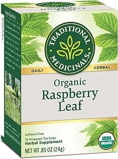 Traditional Medicinals Organic Herbal Tea Caffeine Free 16 Bags (Raspberry Leaf, Pack - 6)