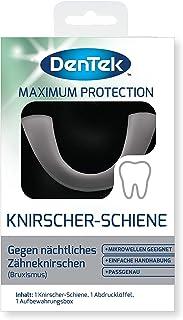 DenTek Knirscher-rail tegen nachtelijk bruxisme - tandbescherming bij tandenknirels - bijtrail voor de bovenkaak - tandrai...