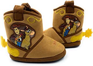Toy Story Woody Boys Toddler Costume Cowboy Boot Slippers Black