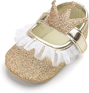 QGAKAGO Infant Baby Girls Princess Patent-Leather Bowknot Soft Sole Mary Jane Shoes
