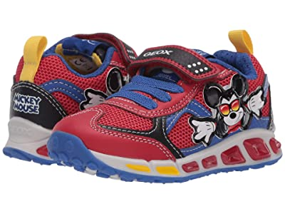 Geox Kids Shuttle 16 Mickey Mouse (Toddler/Little Kid) (Red/Blue) Boy