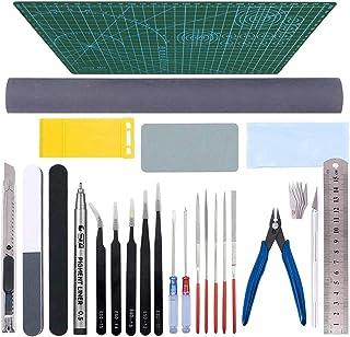 Gundam Tools Kit Esoca 28Pcs Gunpla Tools Gundam Model Kit Tool Bandai Tool Kit Gundam Modeler Basic Tools Craft Set for G...