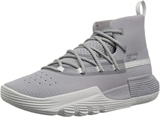 Under Armour Boys' Grade School SC 3Zer0 II Basketball Shoe, 101/Steel, 6