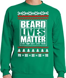 Funny Big and Tall Beard Lives Matter T-Shirt or Ugly Faux Christmas Sweater