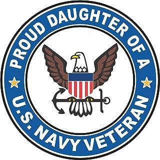 Magnet US Navy Veteran Proud Daughter Military Veteran Served Vinyl Magnet Car Fridge Locker Metal Decal 3.8