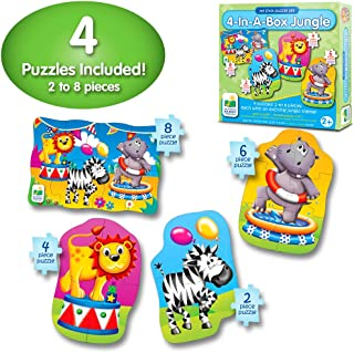 The Learning Journey My First Puzzle Sets 4-In-A-Box Puzzles, Jungle
