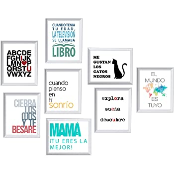 Pack de Ocho láminas Feliz. Posters con imágenes y Mensajes ...