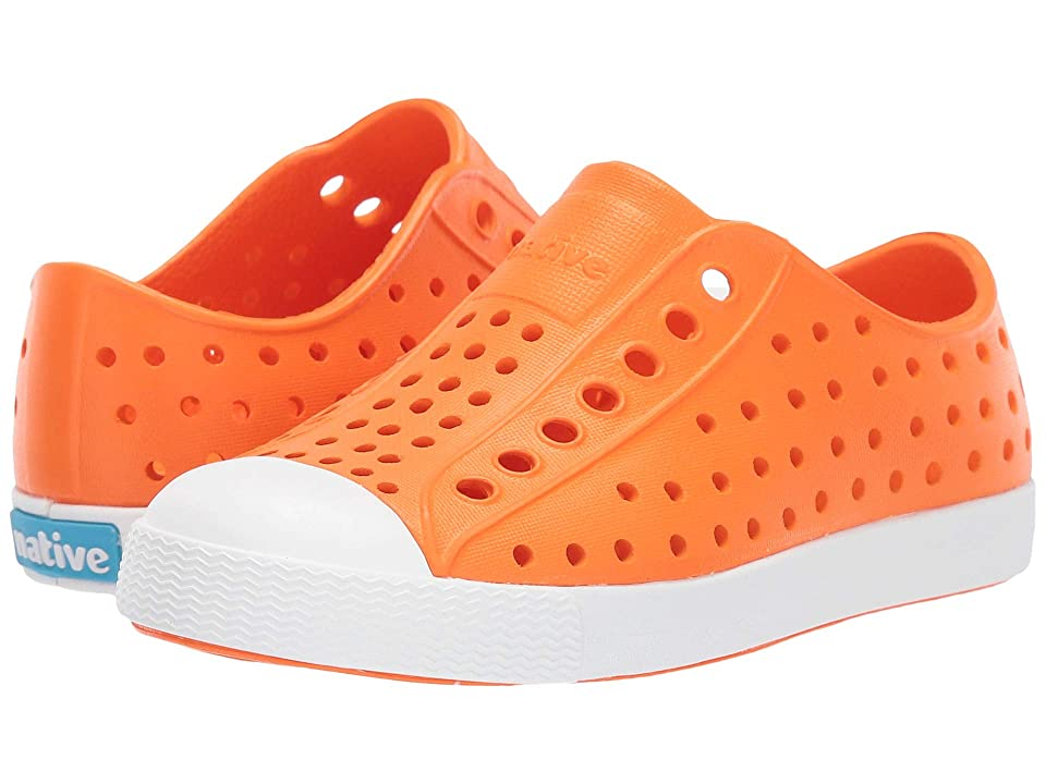Native Kids Shoes Jefferson (Toddler/Little Kid) (City Orange/Shell White) Kids Shoes