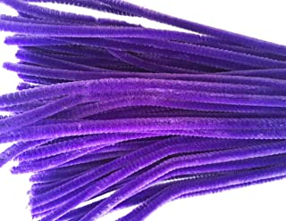 Caryko Super Fuzzy Chenille Stems Pipe Cleaners, Pack of 100 (Purple)