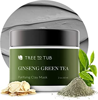 Activated Clay Face Masks for Women by Tree to Tub - Non Peel Off Clay Masks - Deep Cleansing Face Mask for Anti-Aging & H...