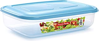 Plastic Forte Elegent Food Storage with Lid Clear/Blue 3 liter PF-11300(D1)