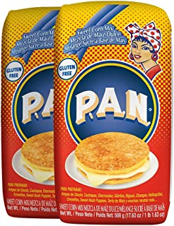 P.A.N. Sweet Corn Mix – Gluten Free and Kosher Mixture for Cachapas, 500 Grams (17.63 Ounces / 1 Pound 1.63 Ounces) (Pack of 2)