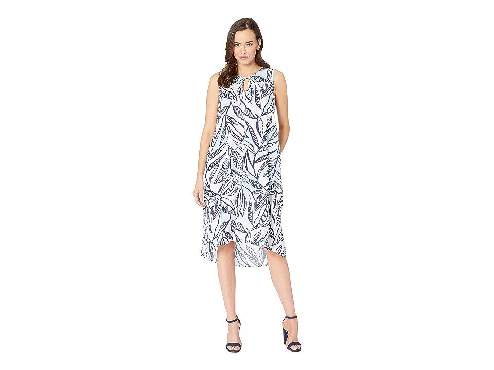 Fresh Produce Palm Leaves Ada Dress (White) Women