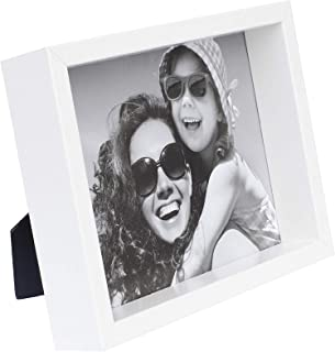 BD ART 8x10 inch White Box Picture Frame - Hanging and Standing Display