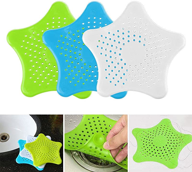Transer Cute Shower Drain Sopper Plug Bathtub Cover Silicone Bathtub Good Grips Hair Strainers Protectors Catchers For Floor Laundry Kitchen And Bathroom Filters Assorted 4pcs