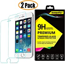 4youquality [2-Pack] iPhone 6 PLUS / 6S PLUS Screen Protector, Premium Tempered Glass Film [LifetimeWarranty][Scratch-Resistant][Anti-Shatter] Screen Protector for Apple iPhone 6 Plus and 6S Plus