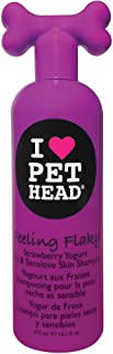 Pet Head Inc Feeling Flaky Sensitive Flaky Pet Shampoo 16.1 oz STRAWBERRY YOGURT - FEELING FLAKY
