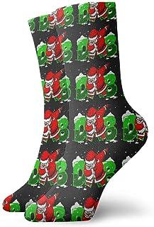 Jhonangel, Niños Niñas Locos Divertido Dabbing Papá Noel Navidad Dab Dance Calcetines Rojos Verdes Negros Calcetines Lindos de Novedad