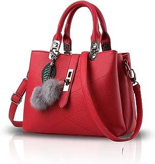 : Rouge Sacs portés main Femme : Chaussures et