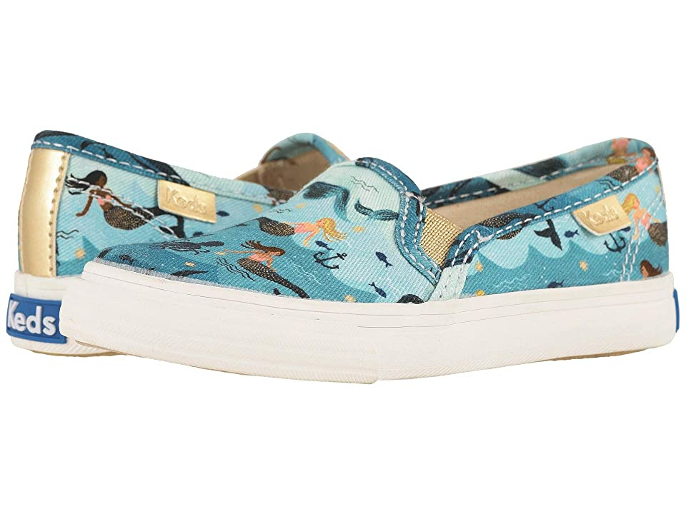 Keds x Rifle Paper Co. Kids Rifle Paper Double Decker (Toddler) (Mermaid) Girls Shoes