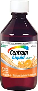 Centrum Liquid Multivitamin for Adults, Multivitamin/Multimineral Supplement with B Vitamins and Antioxidants, Citrus Flav...
