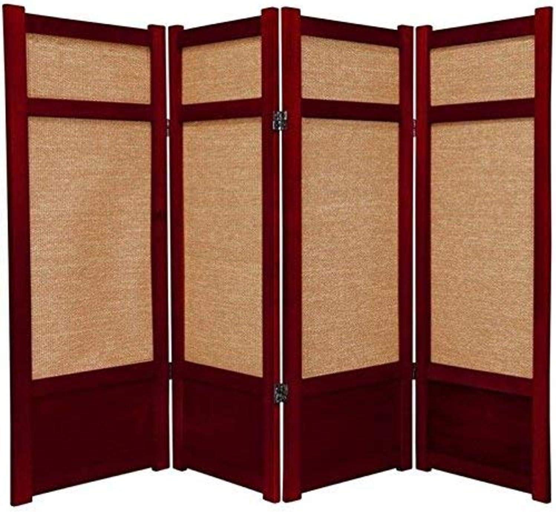 Oriental Furniture 4 ft. Tall Low - Jute Max 74% OFF Panel Ranking TOP16 Shoji Screen