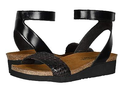 Naot Abbie (Black Madras Leather/Black Dark Brown Braid) Women