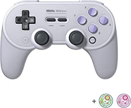 8Bitdo SN30 Pro+ Bluetooth Controller for Nintendo Switch, PC, macOS, Android, Steam and Raspberry Pi with Thumb Stick Gri...