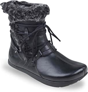 Earth Womens Snow Boots 100420WVLE01 Central Too Black Leather