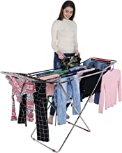 LiMETRO STEEL Foldable Cloth Stand for Drying Clothes (Bed Style)