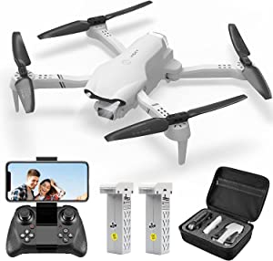 4DRC F10 Drone with 1080P HD Camera for Adults,FPV Wifi Live Video Rc Quadcopter for Kids, Beginners Toys,3D Flips, Trajectory Flight, App Control, Headless Mode,Altitude Hold, 2 Batteries,