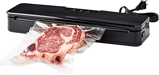 Anova Culinary ANVS01-US00 Anova Precision Vacuum Sealer, Includes 10 Precut Bags, For Sous Vide and Food Storage