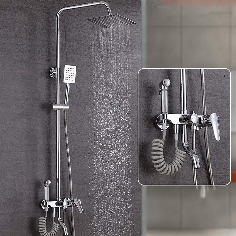 BP&S Bad Duschsystem, Bad Thermostat 38 ° Wasserhahn Handdüsensatz DREI-Stufen-Verstellung Wandbrause Zwei-Wege-Brauseventil