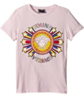 Versace Kids - Short Sleeve Tee with Logo Graphic (Big Kids)