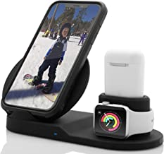 Wireless Charger Compatible with iPhone 11 X/Xs Max/XR/8 3 in 1 Wireless Charging Dock for Samsung/Note All Qi-Certified Android Devices Charging Station for Apple Watch Series 1/2/3/4 +Airpods