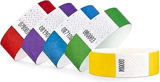 linie zwo®, Lot de 100 Bracelets d'identification Tyvek® 19 mm, diverses Couleurs Disponibles