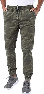 Aeropostale Men's Aero Guys Regular Fit Camouflage Printed Joggers, Dark Green