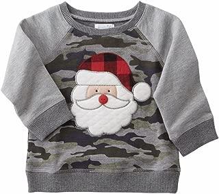 Mud Pie Mens Camo Santa Sweatshirt (Infant/Toddler)