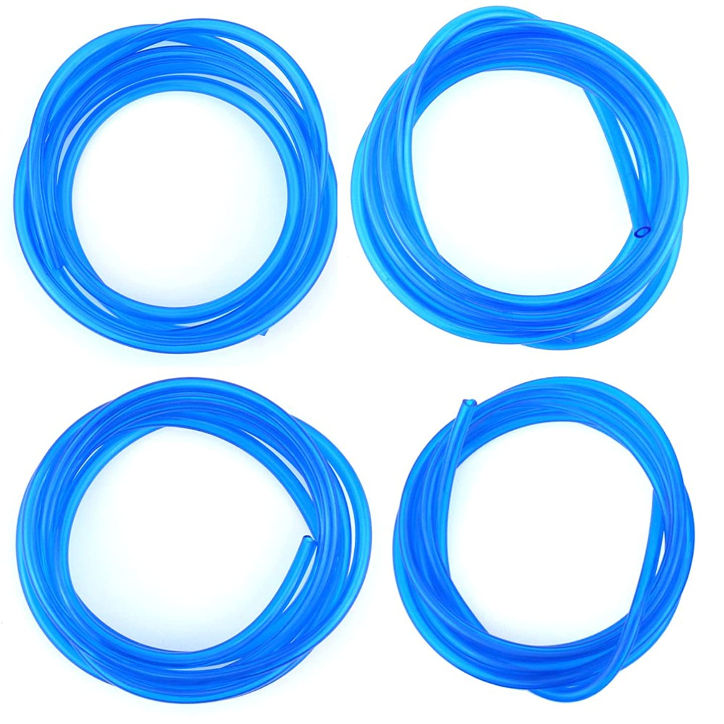 Hilitchi 20-Feet Petrol Fuel Line Hose Lubricant of 4 Sizes Tubing for Weedeater Chainsaw Common 2 Cycle Small Engines (Light Blue)