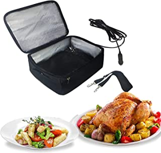Portable Oven 12V Personal Car Food Warmer for Prepared Meals Reheating & Raw Food Cooking Reheating at work For Driving, ...