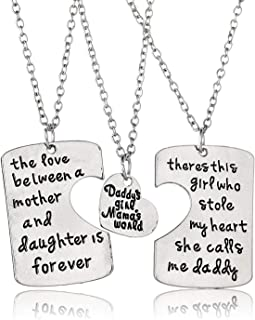 3PCs/Set Father Mother Girl I Love U Charm Pendant Keyring Keychain Jewelry Gifts for Daughter Daddy Mom