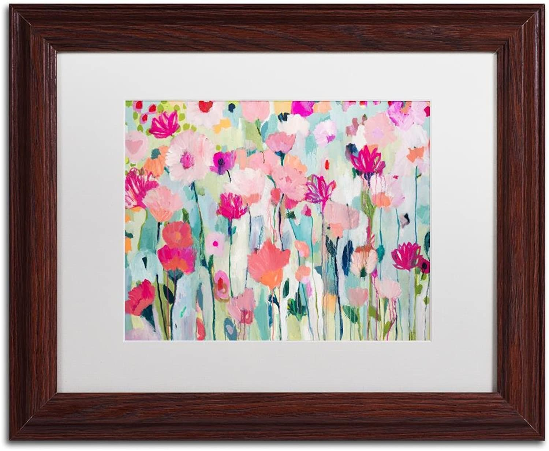 Trademark Fine Art Shasta by Carrie Schmitt, White Matte, Wood Frame, 11  X 14
